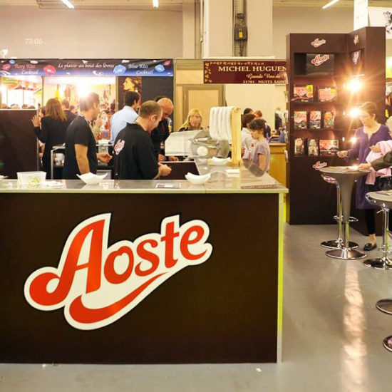 stand degustation aoste
