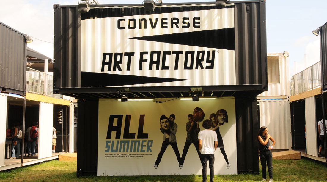 container covering converse art factory